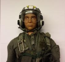 Jetpilot m. Helm, gebraucht