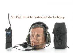 Headset, Kopfhörer mit Tasche + ICOM