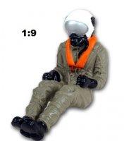 Jetpilot m. Helm, Maske etc.
