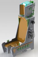 Schleudersitz 1:8 (kit) MB MK 12 m. Druckflasche