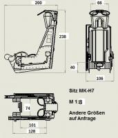 Schleudersitz MK7 im Maßstab 1:8